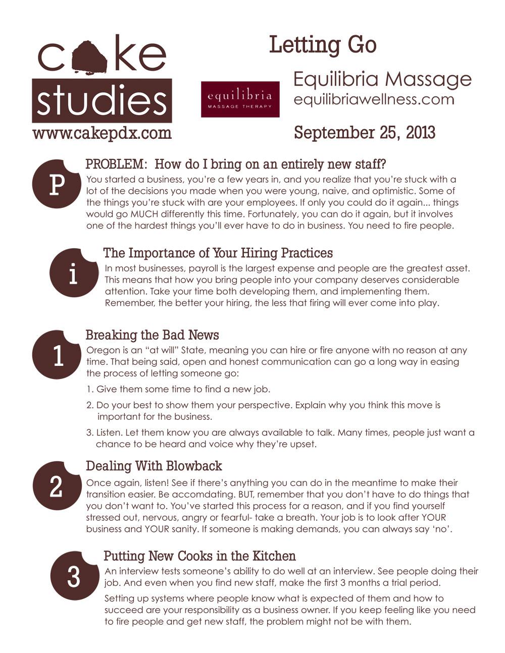 September 2013 CAKE Study Workshop in Portland Oregon