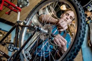 Abraham Fixes Bikes
